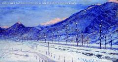 Giulio Cesare Prati Inverno 1934 olio su tela 37 5x68cm Collezione privata