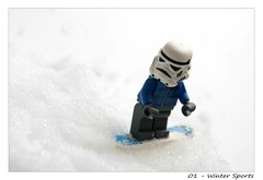 01 / 52 - Winter Sports (Christin Tietjen) Tags: winter snow storm trooper sports star lego snowboard wars minifigures