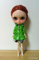 Yelle (Juther) Tags: cute green toy toys bigeyes ginger eyes doll dolls redhead blythe freckles custom takara cutest blythedoll customblythe blythedolls customdoll littlelady littlemissperfect blythecustom customgirl prairieposie toysarealive