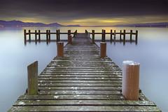 Dliroponton (photofabulation) Tags: sunset lake water night switzerland eau europa europe suisse lac lman nuit pontoon ponton vaud romandie prverenges coucherdesleil canoneos5dmarkiii