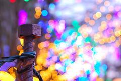 Winter Fireworks (littlekiss) Tags: christmas winter light color colors night vancouver nikon colorful bokeh illuminated festivaloflights christmaslight vandusenbotanicalgarden nikond60 nikkor50mmf14g