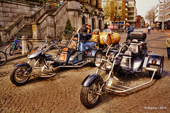 Tricycles,Groningen stad,the Netherlands,Europe (Aheroy) Tags: street holland art netherlands strange dutch architecture town europe colours different nederland surreal motorcycles hallucination groningen stad stadhuis grotemarkt tricycles onexplore tonemapped singlerawhdr aheroy aheroyal beautifulgroningen