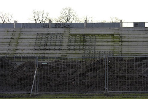 Part of the south-side stand