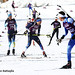 North Country biathlete Tim Burke, (#67), in a scramble of competitors training for the Mens 10km Olympic sprint Friday in Sochi, Russia. Photo: � Nancie Battaglia