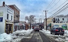 Not So Green Green Street (danion9) Tags: road winter snow newyork cars suffolk driving huntington storefront greenstreet 11743 vision:ou
