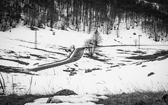 The way (RMFearless) Tags: auto blackandwhite snow car strada bn neve montagna macchina viaggio biancoenero percorso villettabarrea findtheway attraverolaneve