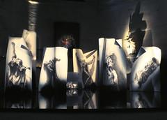 Ernest Pignon-Ernest(1942,Nice-), Extases, 2014, La Piti-Salptrire, chapelle Saint-Louis, Paris. (michelle@c) Tags: light woman paris reflection water plaque poster eau artist drawing lumire femme plan chapel dessin exposition installation sheet visual chapelle mystic mystique aluminium affiche pulsation artiste rflection scenography contemporain charcot ecstasies mariemadeleine ernestpignonernest plasticien scnographie contemporan extases catherinedesienne lapitisalptrire hildegardedebingen madameguyon michellecourteau angledefoligno mariedelincarnation thrsedavila