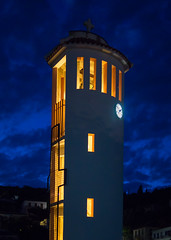 Kioni Belfry. (Rupert Brun) Tags: tower clock island bell may campanile greece belfry ithaca chime 2014 ionian chiming kioni peloponnisosdytikielladakeio peloponnisosdytikielladakeionio