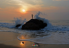 PANCHA BHOOTA ( Sanskrit:   ) (GOPAN G. NAIR [ GOPS Photography ]) Tags: sea nature rock photography power five wave elements nair gops panch gopan bhooth gopsorg gopangnair gopsphotography