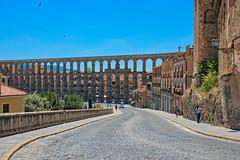 Aqueduct of Segovia, Spain (CamelKW) Tags: bridge monument spain roman unescoworldheritagesite aqueduct segovia