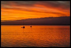 Deception Bay sunset reflections-1=