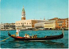 Basin of St. Mark in Venice (booboo_babies) Tags: venice italy vintage boat antique gondola 1970s