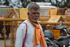 (Mallika Makkar Photography) Tags: orange india man indian mysore chamundi chamundeshwari
