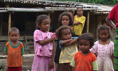 Indonesia - Flores - Children In A Traditional Village