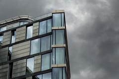 Gloomy Glass (David.R.Evans) Tags: city uk bridge blue sky urban london glass thames architecture clouds canon buildings dark grey high moody dynamic path united kingdom waterloo 5d range hdr offices