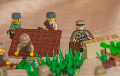Ad hoc war MOC (SEdmison) Tags: lego battle german soviet cccp
