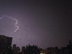 IMG_4659.JPG ((Jessica)) Tags: chicago storm weather night buildings thunderstorm lightning thunder ilightningcam iphonelightning