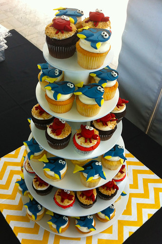 Beach Wedding Cupcakes