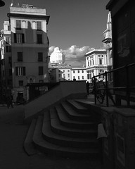 """The Packed Tower"" (giannipaoloziliani) Tags: giannipaoloziliani plastica plastic steps windows palaces architectures flickr centre streetlife citylife downtown italy perspective liguria genoa genova genoacity shop bicycle people scale clouds skyline sky tower workinprogress light sunlights shadow shadows ombre ombra monocromatico biancoenero streetphoto street streetphotography piazza place monochrome blackandwhite"