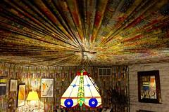 Elvis's pool room (pburka) Tags: light fixture ceiling textile colorful color curtains pool billiards graceland elvis presley memphis tennessee tn