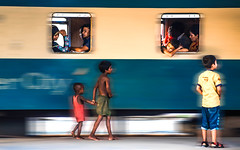 I still believe in change  ..... And in some day we all can do that ..... (mithila909) Tags: streetphotography people man women children train window concept platform