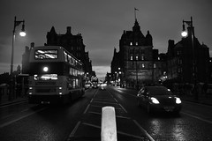 North Bridge, Edinburgh (Fearghl Nessbank) Tags: nikon d700 edinburgh scotland northbridge blackwhite bw mono monochrome street blackwhitephotos blackdiamond city bus old cityscape