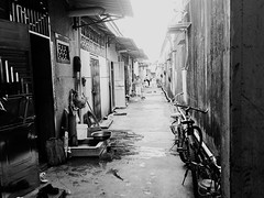 Village alley in China. (Ashyblue07) Tags: residentialbuilding dailylife daily china countryside traditional chaozhou blackandwhite blackandwhitephotography photography iphone5s iphonephotography