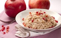 Un risotto autunnale e dietetico a base di succo di melograno (RicetteItalia) Tags: risotto melograno ricette light