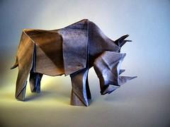 Rhinoceros - Seth Friedman (Rui.Roda) Tags: origami papiroflexia papierfalten rinoceronte rhino rhinoceros seth friedman