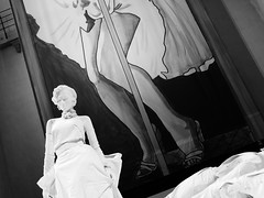 90 Years Ms Monroe (Miranda Ruiter) Tags: blackandwhite photography exhibition marilynmonroe gentlemenpreferblondes sculpture art amsterdam nieuwekerk