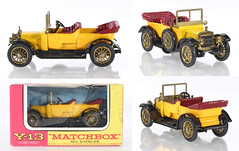 MBY-13-Daimler-Yellow (adrianz toyz) Tags: matchbox yesteryear diecast toy model car y13 daimler 1911 145 scale