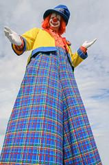 a real tall clown (vikkiq) Tags: clown tall halloween shriners alepposhriner color smile laugh stilts gloves f64g79r1win