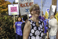 Osten Joins Health Workers Picket Line (CT Senate Democrats) Tags: cathyosten healthcareworkers hospital labor picketline union