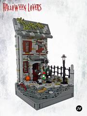 Halloween Lovers (-JV-) Tags: lego minifigures minifig spooky halloween moc stone medieval vignette