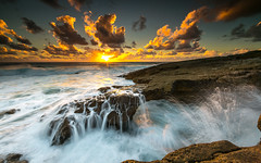 Dynamic flow (marcolemos71) Tags: seascape sea water waves atlanticocean rocks flow dynamic slowshutter sky sun sunset clouds cascais caboraso portugal