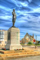 Nelson_Trafalgar_Day (Rob_Pennycook) Tags: nelson monument memorial lordnelson oldportsmouth trafalgar photomatix tonemapped nelsonmemorial