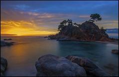 Amanecer en Cap roig. (antoniocamero21) Tags: paisaje marina color foto sony agua mar playa amanecer cielo daro platja roig cap girona brava costa catalunya