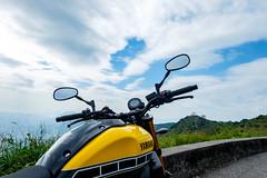 Our bike looking forward (a-story) Tags: bike motorbike bluesky feingoshan color daytime