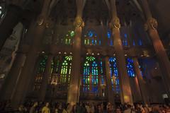 NH0A3781s (michael.soukup) Tags: barcelona sagradafamlia familia basilica church stainedglass color colorful windows nave interior gaudi churchoftheholyfamily catholicchurch artnouveau architecture neogothic spain catalonia