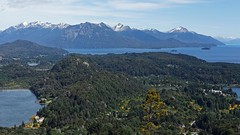 IMG_9034 The forest and the lake (Rodolfo Frino) Tags: landscapephotography mountain mountains snow peak mount mt lake forest tree trees water green blue yellow yellowtree island bariloche patagonia south