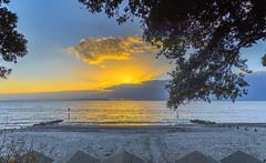Beach Hut View (nicklucas2) Tags: seascape beach beachhut groyne needles seaside solent sun cloud