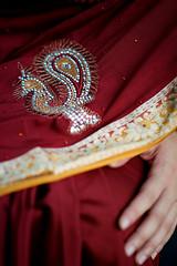 DSCF9391 (tzeyangtan) Tags: deepavali indian traditional red gold details smiles