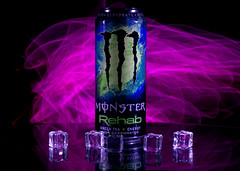 Experimental low light photo shoot - 2 (Tony Worrall) Tags: color cool nice colours colourful shoot shot smoke smokey experimental can monster energy ice cubes icecubes plastic monsterenergy energydrink laser laserlight light lit lights studio studioshoot cloud clouds pink red