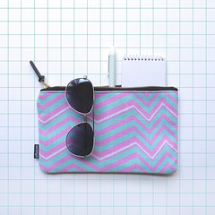 Sparks (pink + green) pouch (The Wallpaper Files) Tags: sparks pink green zigzag pattern pouch electric dreams grid sunglasses notebook