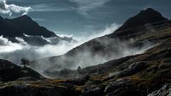 Scaioi (Sophia Drosophila) Tags: alpen alpinwandern berg berge felsen gebirge gestein ghiacciaio gletscher gletschervorland landschaft lepontinischealpen natur schweiz tessin valbavona valmaggia weitwandern scaioi nebel bodennebel basodino pizzo pecora castello