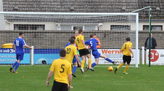04 Cal Maclean slots home equaliser (gurnnurn.com pictures) Tags: nairn county highland league lossiemouth fc wee station park october 30 2016 30th