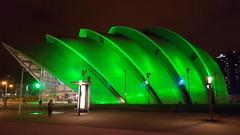 The Clyde Auditorium @ 00.00 hrs (stonetemplepilot5) Tags: armadillo finnieston glasgowauditorium green samsunggalaxy night scotland concordians