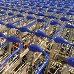 Airport carts (Navi-Gator) Tags: blue square pattern abstract details