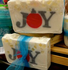 "Sometimes "" JOY"" Comes IN the Smallest Form Or Package... (~ Cindy~) Tags: november 2016 joy soap decor rhinestones rust rheacounty tenn christmas ribbons soapcakesjoy springcity"