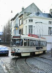 Once upon a time - Belgium - Antwerpen / Anvers (railasia) Tags: belgium flanders antwerpen anvers miva metergauge routenº12 motorcar pcc infra narrowpassage singletrack levelcrossing eighties
